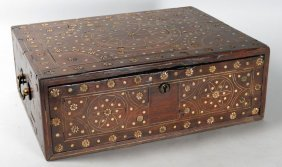 18TH C. MILANESE IVORY INLAID WALNUT BOX