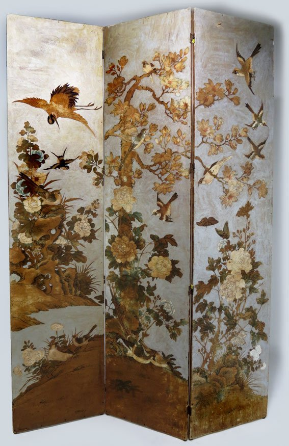 99: 3-PANEL WALLPAPER FOLDING SCREEN