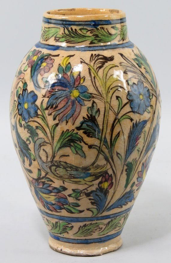 110: 19TH C. PERSIAN CERAMIC VASE