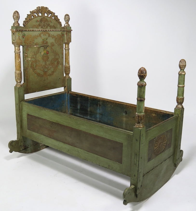 116: 18TH C. VENETIAN PAINTED CRADLE