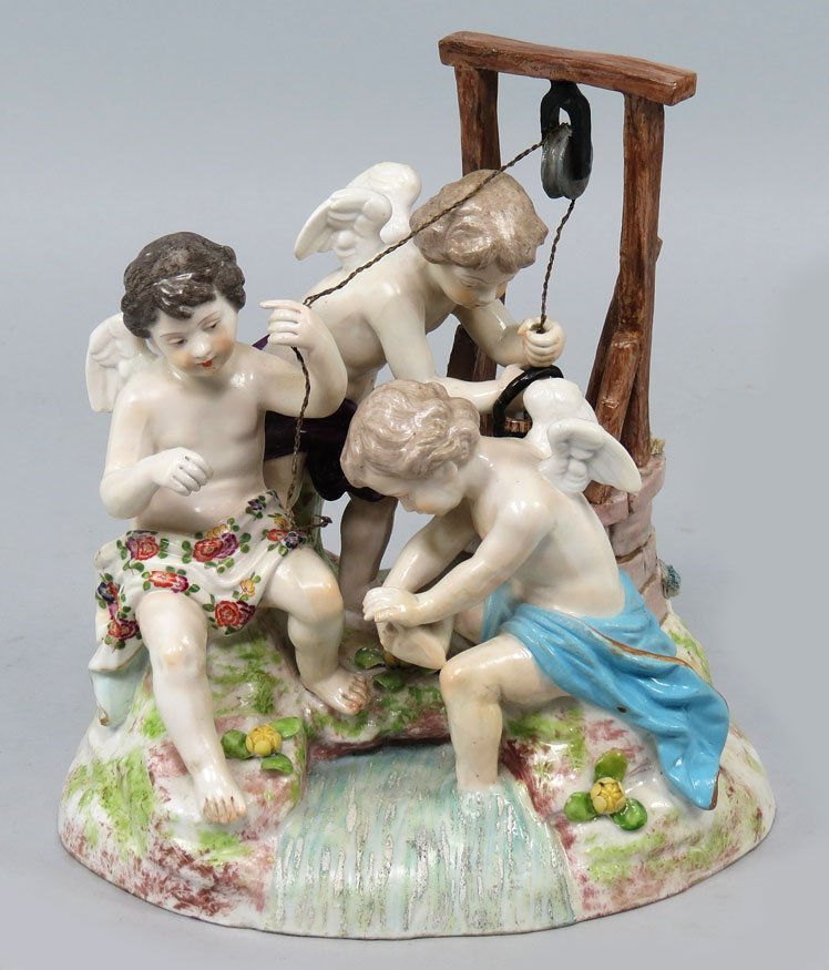 119: MEISSEN PORCELAIN FIGURAL GROUP