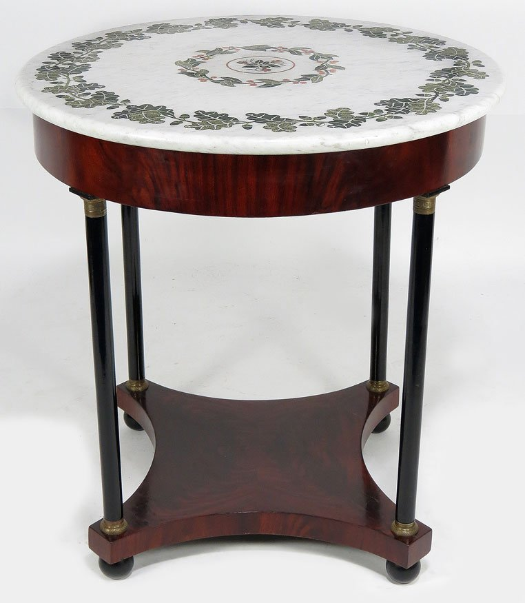 132: 19TH C. PIETRA DURA CENTER TABLE