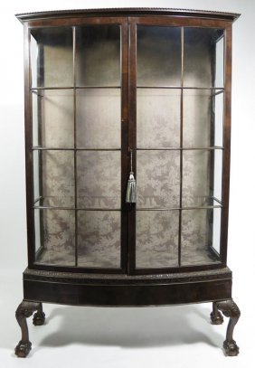 GEORGIAN-STYLE MAHOGANY DISPLAY CABINET