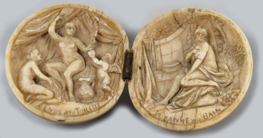 145: 18TH C. FRENCH CARVED IVORY BALL