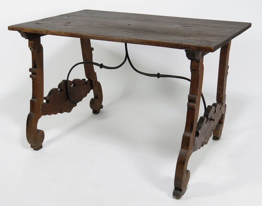 147: ITALIAN BAROQUE-STYLE WALNUT CENTER TABLE
