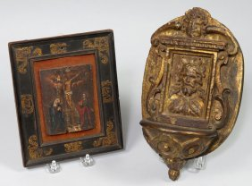 (on 2) 18TH C. SMALL RELIGIOUS OBJECTS