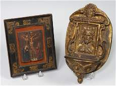 148 on 2 18TH C SMALL RELIGIOUS OBJECTS