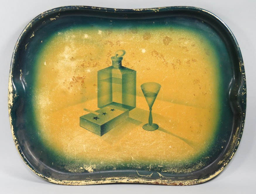149: ART DECO PAINTED TOLE TRAY