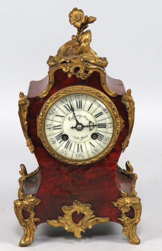 152: FRENCH LOUIS XV-STYLE MANTEL CLOCK