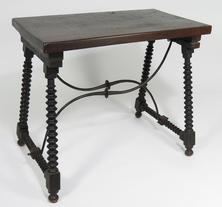 164: SMALL SPANISH BAROQUE-STYLE WALNUT CENTER TABLE