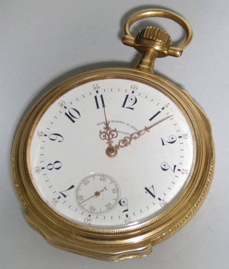 306: 18K GOLD POCKET WATCH, PATEK