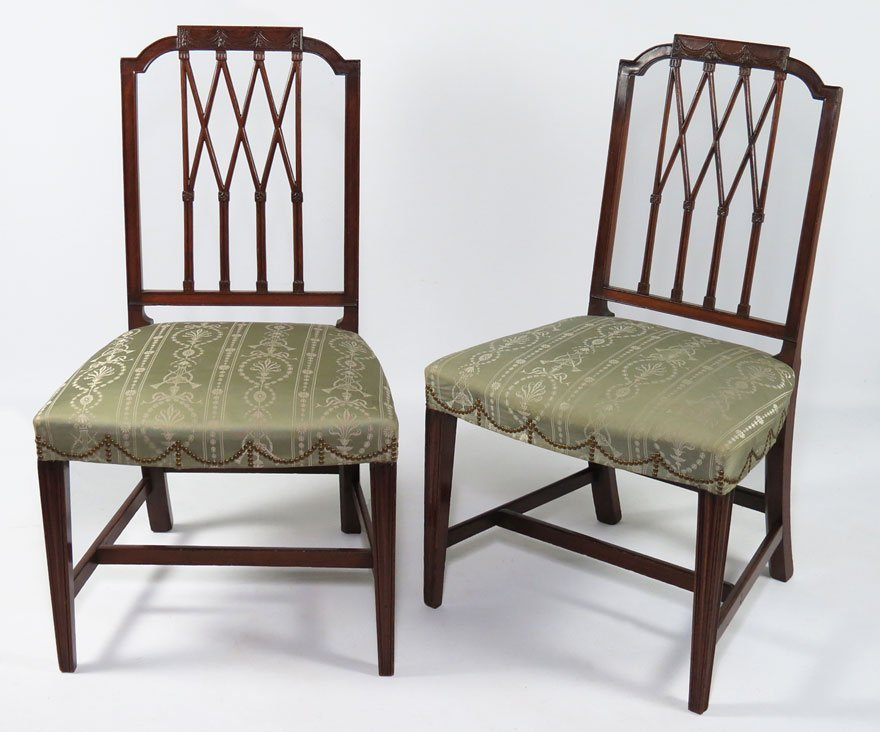 PAIR OF SALEM CARVED MAHOGANY SIDECHAIRS