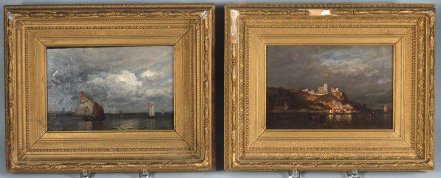 (pair) JOHN JOSEPH ENNEKING (American, 1841-1916)
