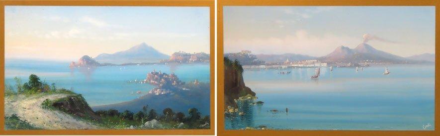 (pair) AUGUSTO CORELLI (Italian, 1853-1910)