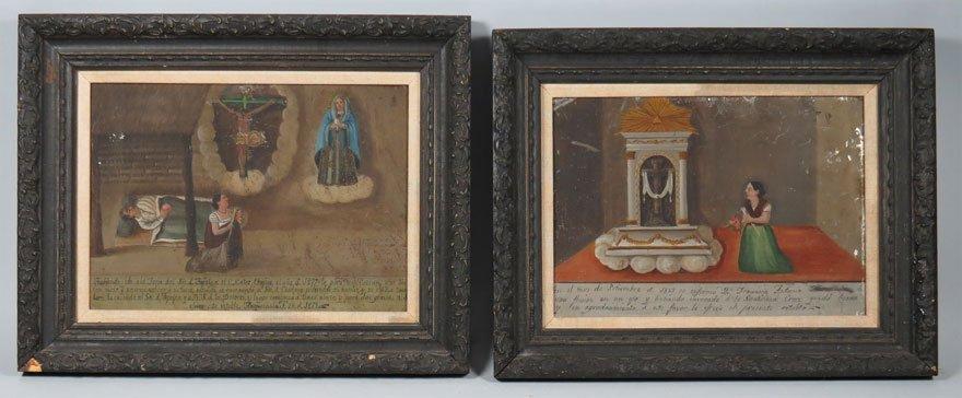 (pair) MEXICAN, 19th c.