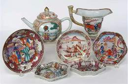 (on 7) CHINESE EXPORT PORCELAIN ITEMS