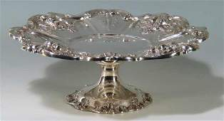 STERLING SILVER FOOTED COMPOTE, FRANCIS I
