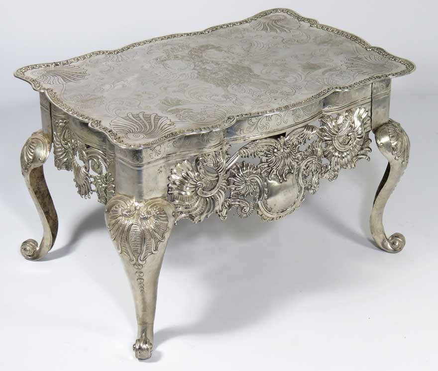 RARE SPANISH COLONIAL SILVER TABLE (MESA RATONA)