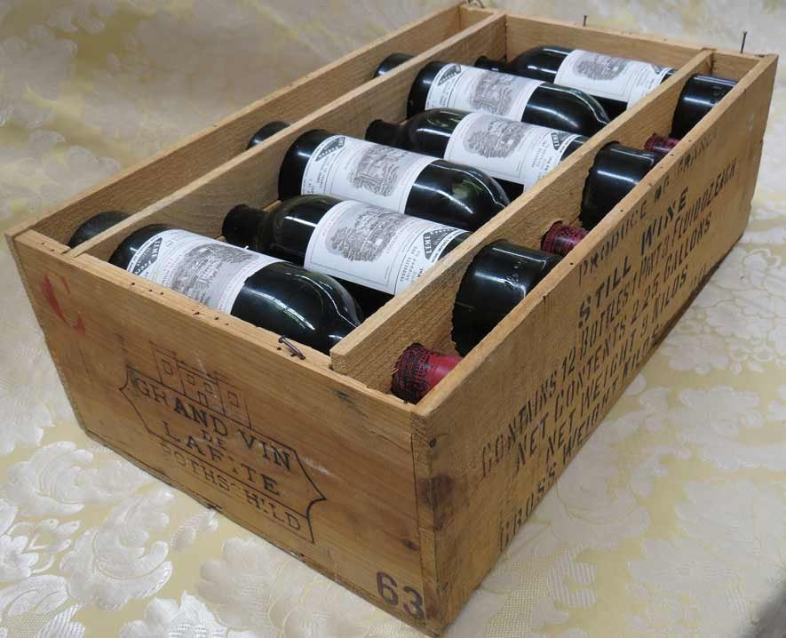CASE OF CHATEAU LAFITE ROTHSCHILD WINE, 1963