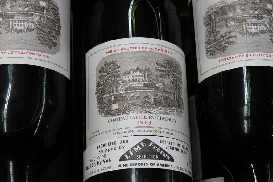 CASE OF CHATEAU LAFITE ROTHSCHILD WINE, 1963 - 2