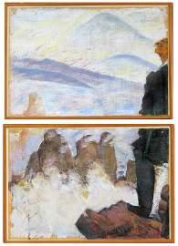 (pair) PAUL THEK (American, 1933-1988)