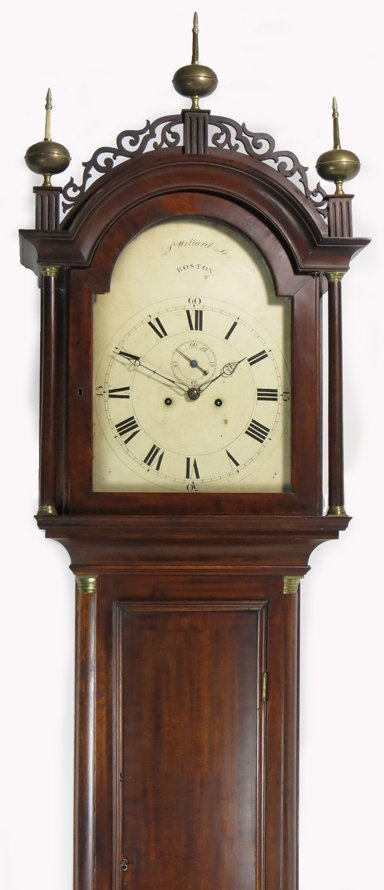 THE WILLSON  FAMILY WILLARD MAHOGANY TALL CLOCK