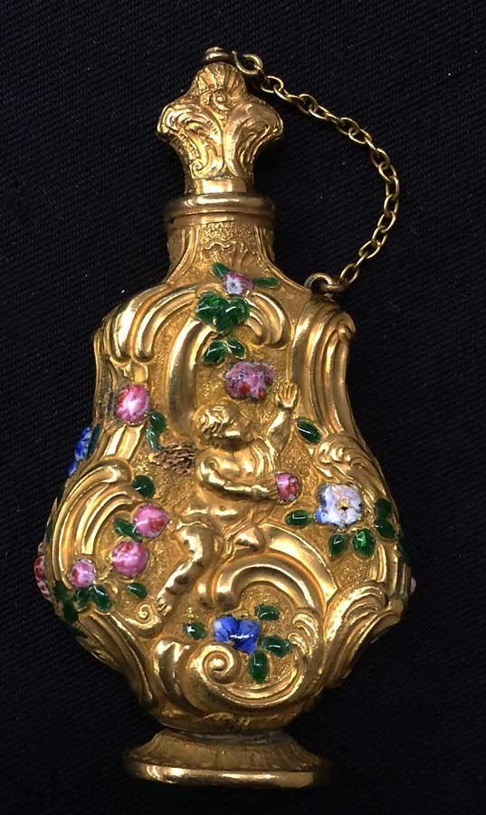 FRENCH GOLD AND ENAMEL PERFUME