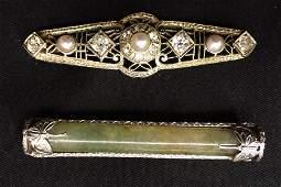 (2) EDWARDIAN BAR PINS