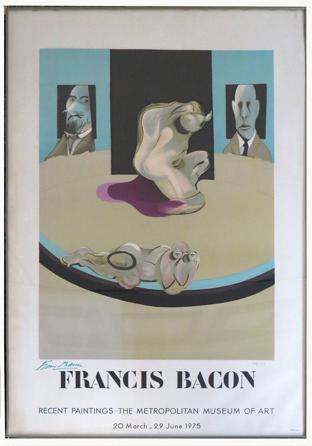 FRANCIS BACON METROPOLITAN MUSEUM POSTER