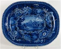STAFFORDSHIRE HISTORICAL BLUE PLATTER, HALL