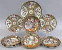 on 9 CHINESE EXPORT PORCELAIN PLATES