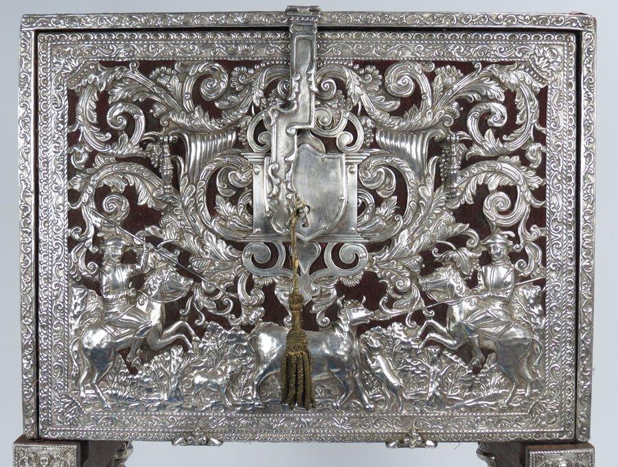 EXCEPTIONAL SPANISH COLONIAL SILVER-CLAD VARGUENO - 2