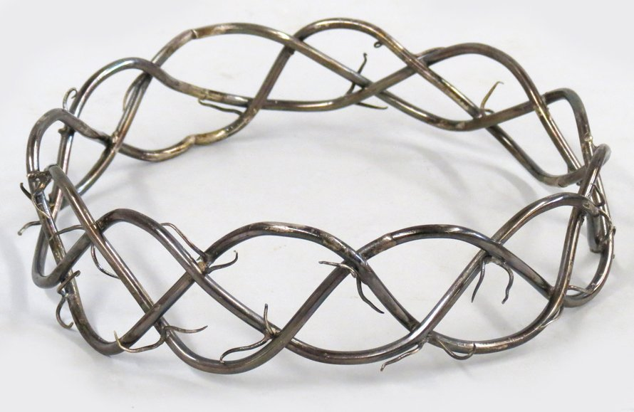 SPANISH COLONIAL SILVER CROWN OF THORNS