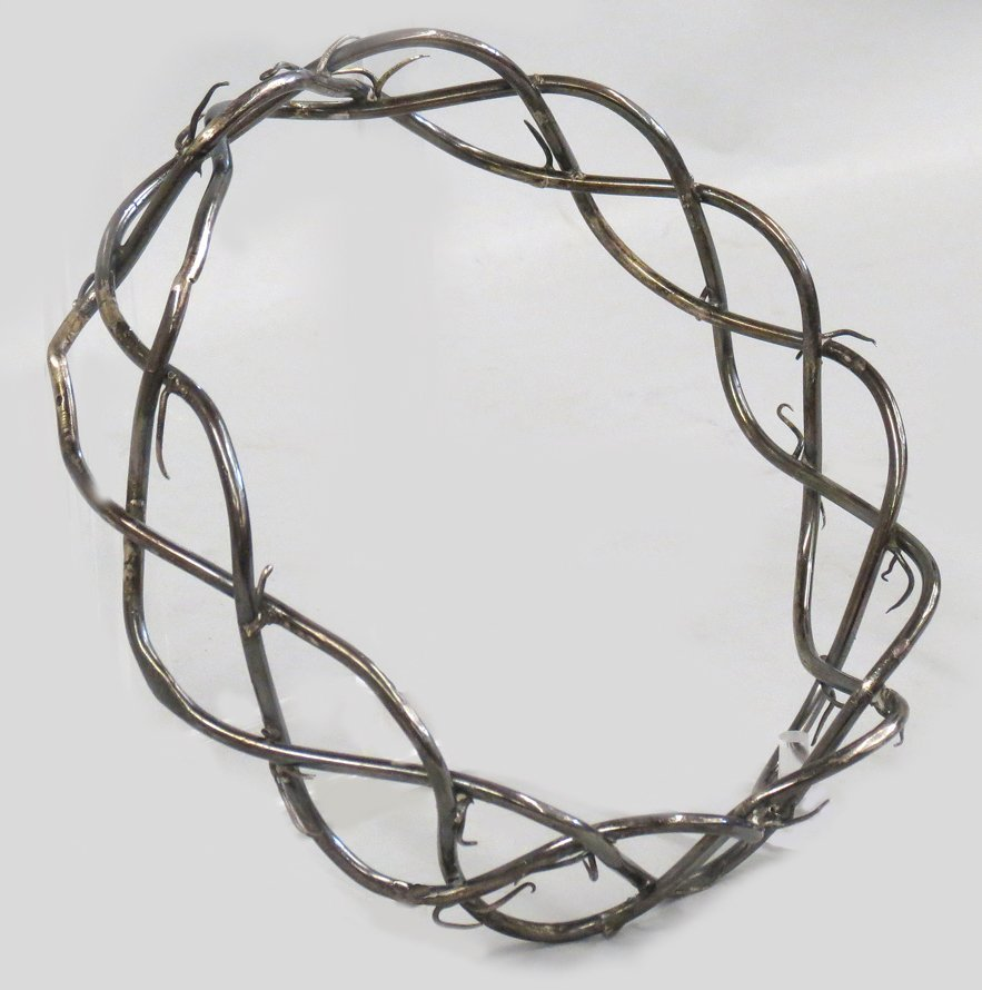 SPANISH COLONIAL SILVER CROWN OF THORNS - 3