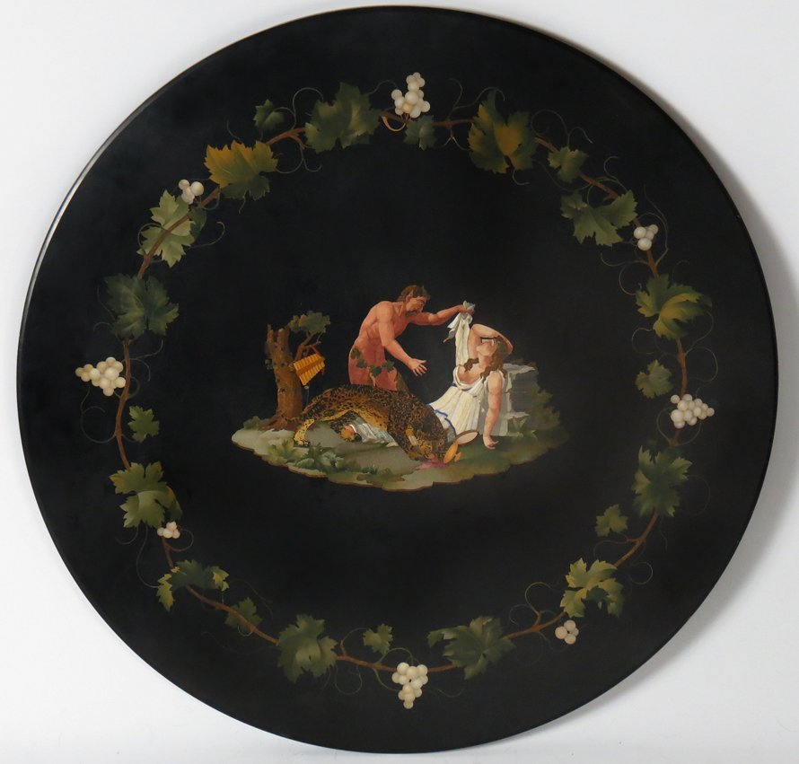 ITALIAN PIETRA DURA AND GILTWOOD CENTER TABLE - 2