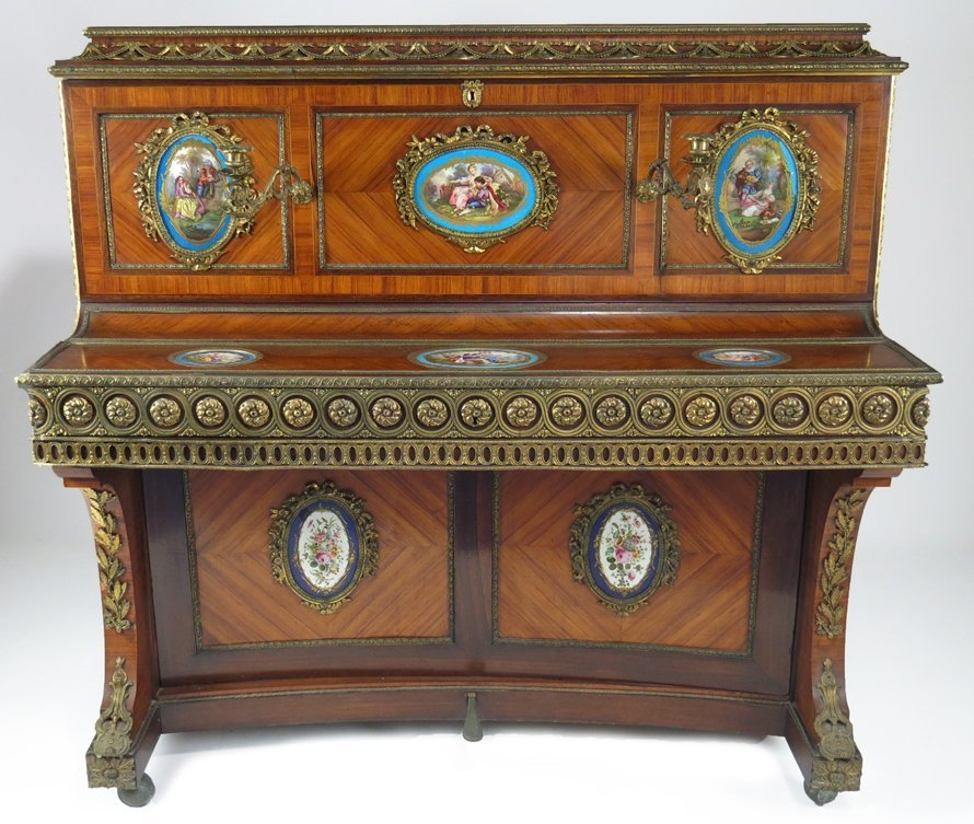 FRENCH NAPOLEON III UPRIGHT ART-CASED PIANO