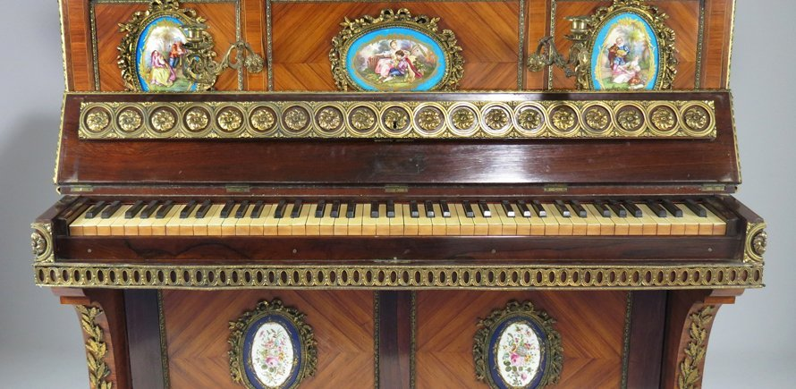 FRENCH NAPOLEON III UPRIGHT ART-CASED PIANO - 2