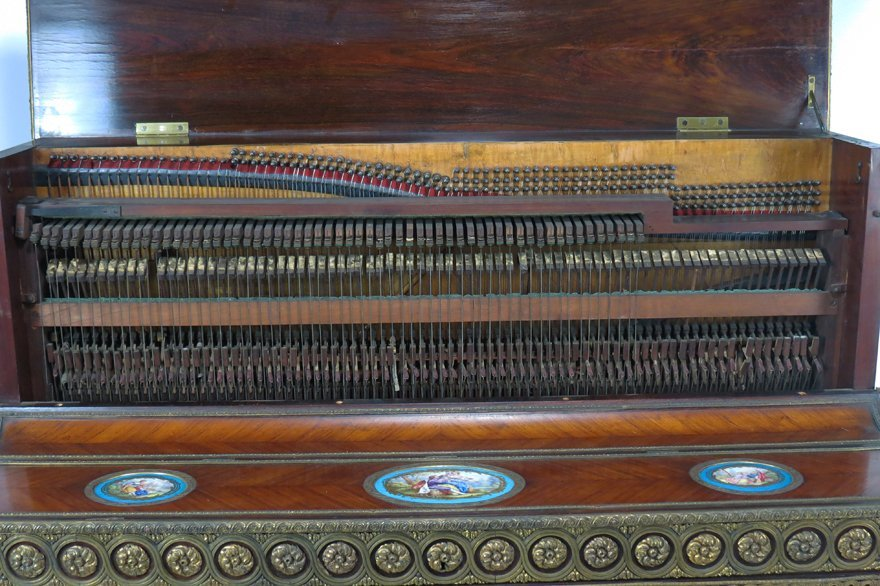 FRENCH NAPOLEON III UPRIGHT ART-CASED PIANO - 5