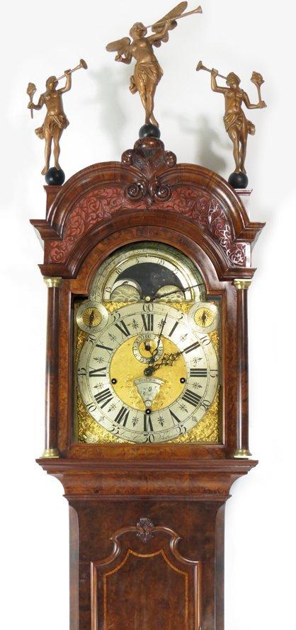 EXCEPTIONAL 18TH C. DUTCH MUSICAL TALL CLOCK, LOGGE