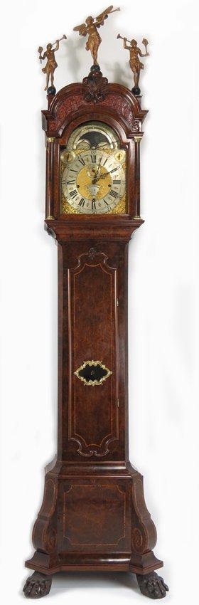 EXCEPTIONAL 18TH C. DUTCH MUSICAL TALL CLOCK, LOGGE - 2