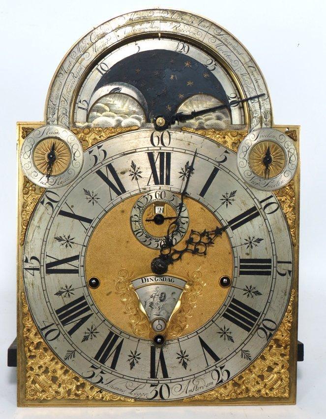 EXCEPTIONAL 18TH C. DUTCH MUSICAL TALL CLOCK, LOGGE - 3