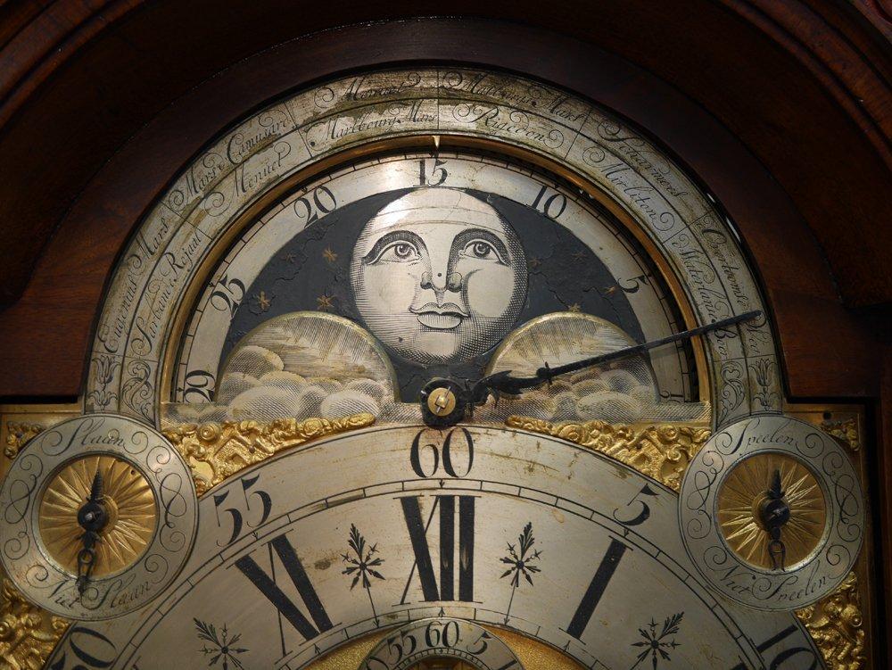 EXCEPTIONAL 18TH C. DUTCH MUSICAL TALL CLOCK, LOGGE - 5