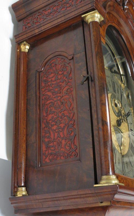 EXCEPTIONAL 18TH C. DUTCH MUSICAL TALL CLOCK, LOGGE - 6