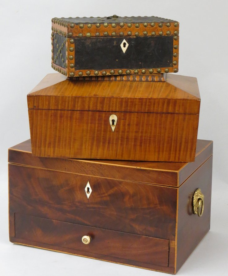 (on 3) EARLY AMERICAN BOXES