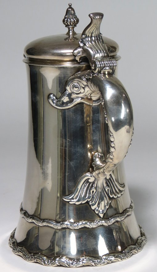 WHITING STERLING SILVER COFFEE POT - 2