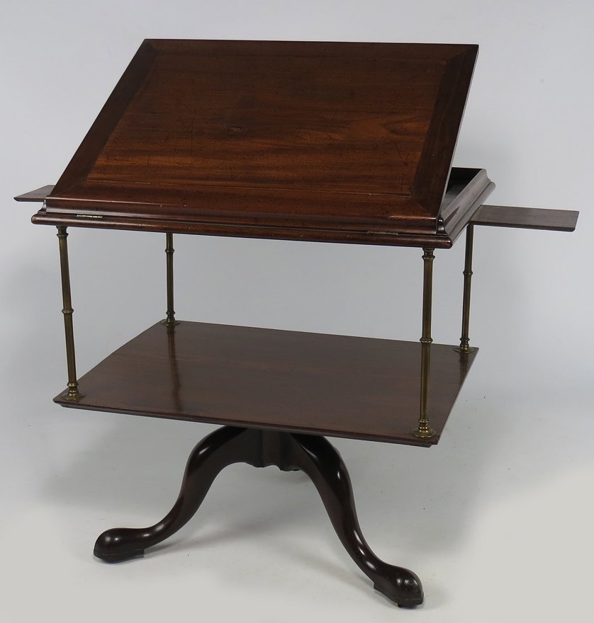 ENGLISH GEORGE III MAHOGANY ARCHITECT'S TABLE