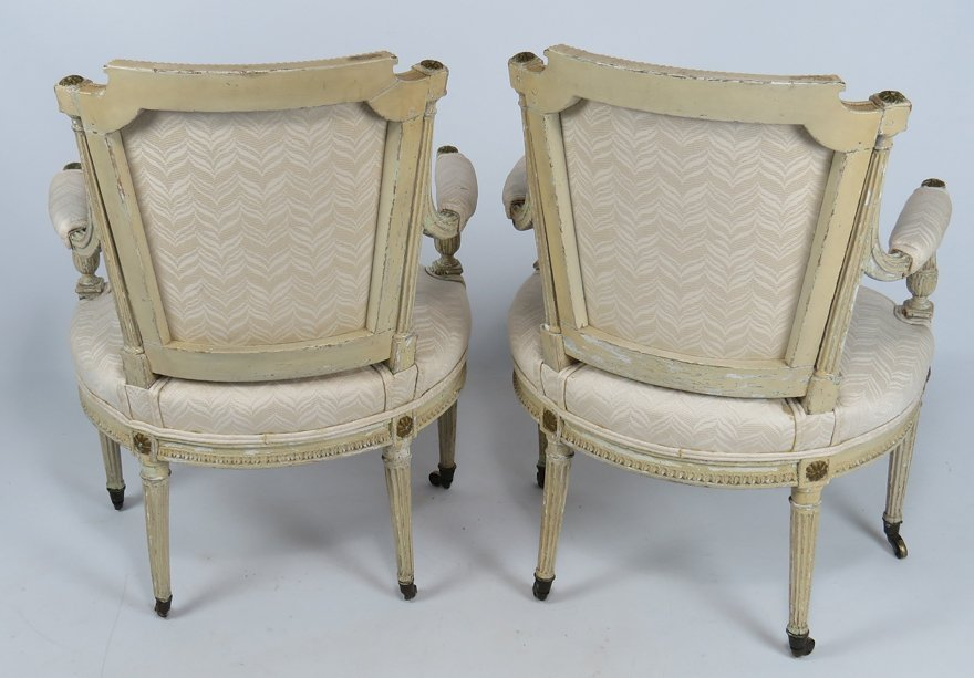 PAIR OF FRENCH LOUIS XVI FAUTEUIL - 2