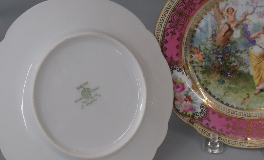 SET OF (24) AUSTRIAN HAND-PAINTED PLATES - 2