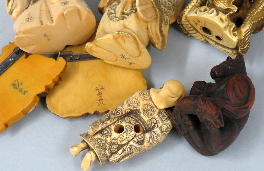 (on 8) VARIOUS JAPANESE FIGURAL CARVINGS - 2