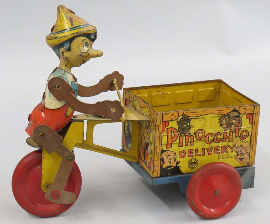 TIN WIND-UP TOY, PINOCCHIO DELIVERY